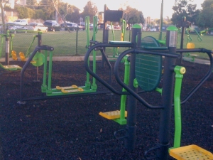 adult outdoor fitness recreation area